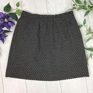 J Crew Contrast Dot Jacquard Mini Skirt